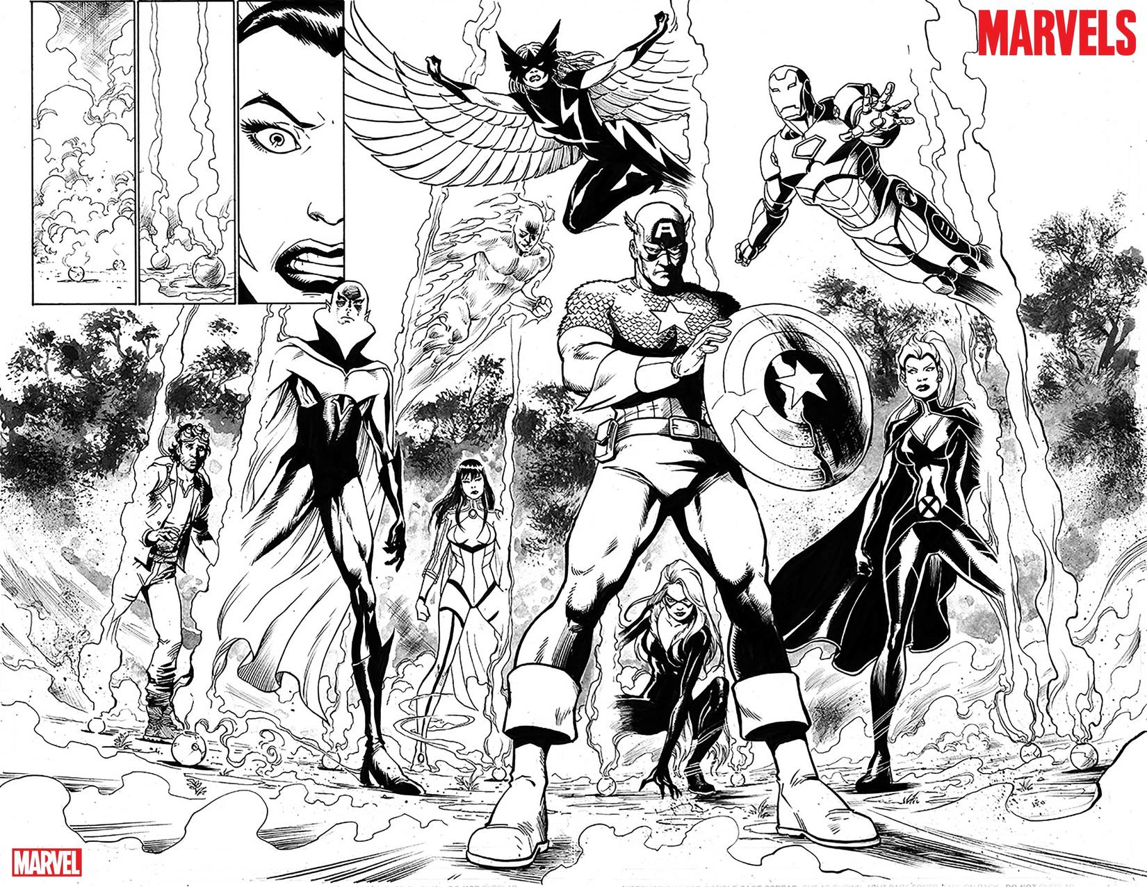 the marvels 1 horizontal spread page