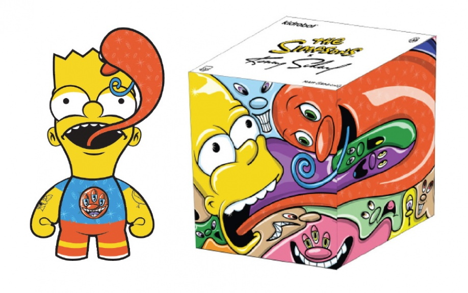 Kenny Scharf e Ron English realizzano le nuove figures dei Simpson per Kid Robot
