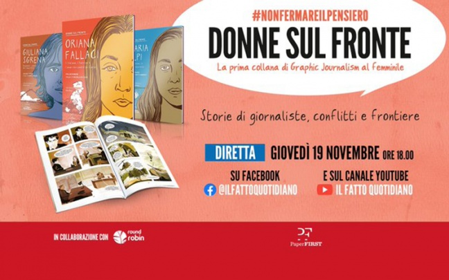 Donne sul fronte, collana di graphic journalism col Fatto Quotidiano