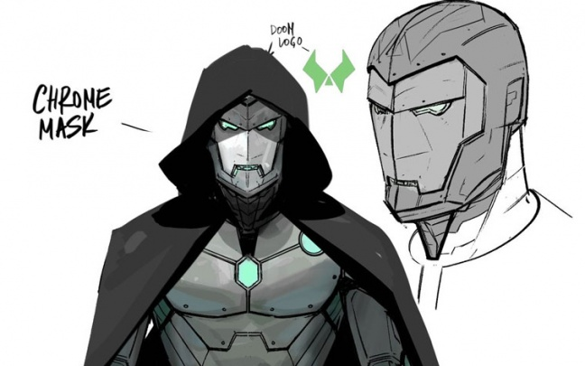 Infamous Iron Man: il concept art dell'armatura di Destino/Iron Man