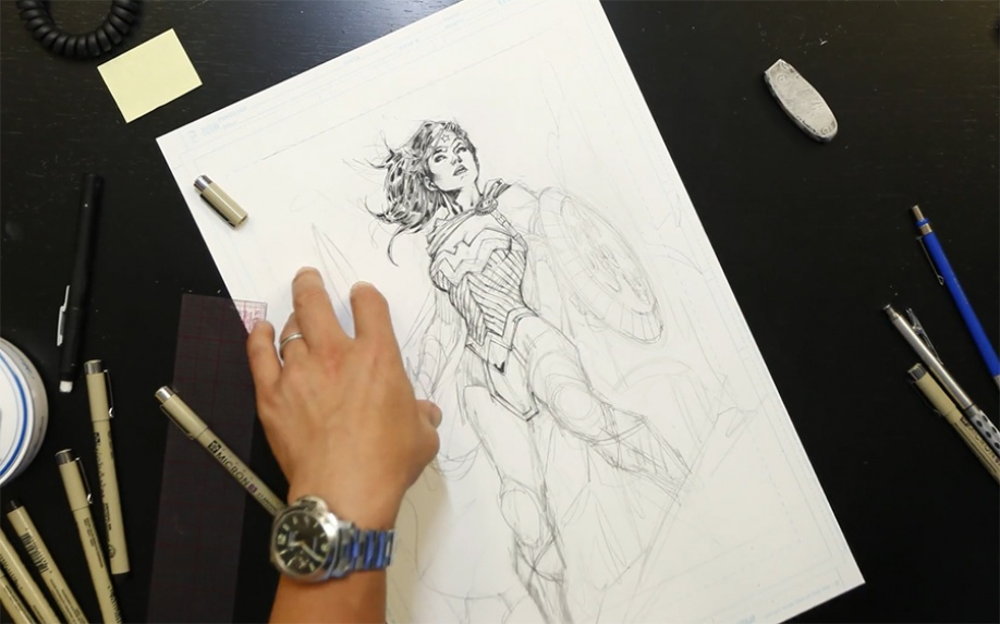 Jim Lee disegna Wonder Woman in time-lapse per i 75 anni dell'amazzone