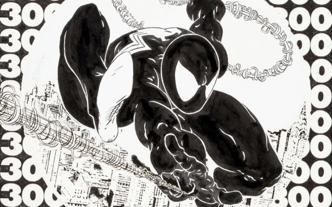 All'asta la cover art di Todd McFarlane di The Amazing Spider-Man 300