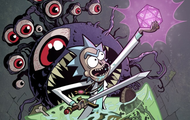 In arrivo il crossover a fumetti fra Rick and Morty e Dungeons & Dragons