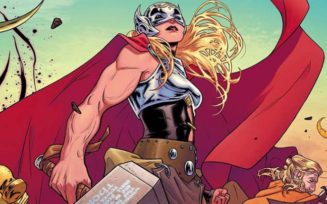 La cover di Russell Dauternan per The Mighty Thor #1